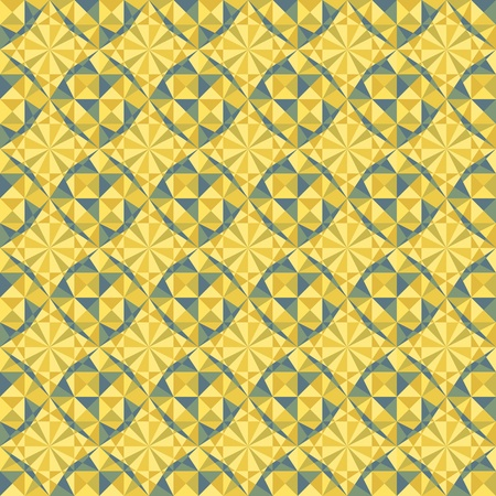 vector seamless geometric pattern in yellow and blue colors Vector