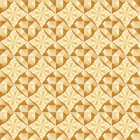 vector seamless geometric pattern in brown and beige colors Vector