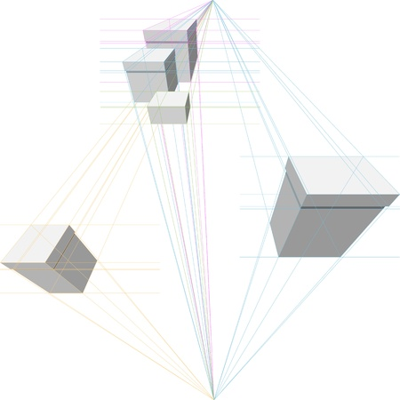 perpendicular: construction of gift boxes in two-point perspective