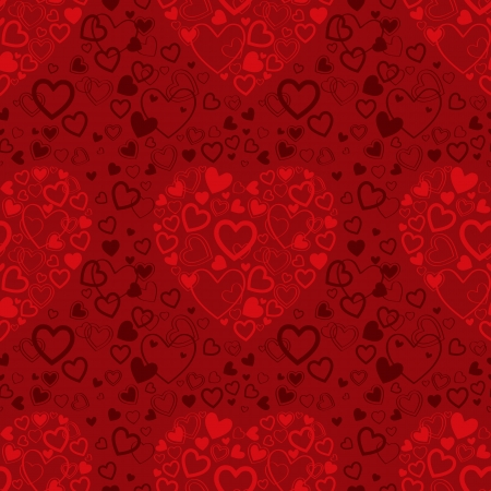 red Valentine's Day seamless pattern with  hearts Stock Vector - 16912361