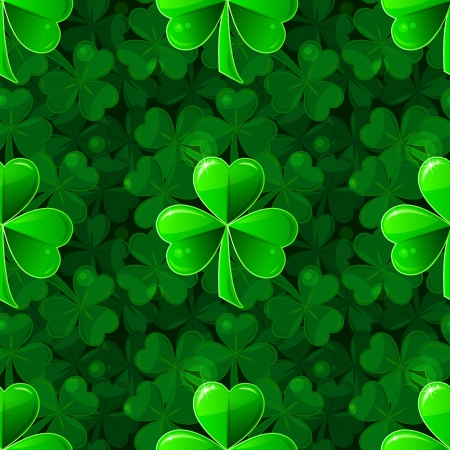 Patricks seamless background with clover shamrock Stock Vector - 17675841