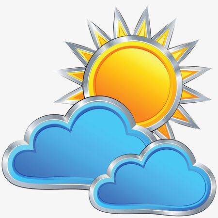 vector an icon of weather of a sunny weather with small overcast Stock Vector - 18719732