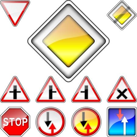 volumetric: conjunto de vectores de los signos volum�trica prioridad carretera