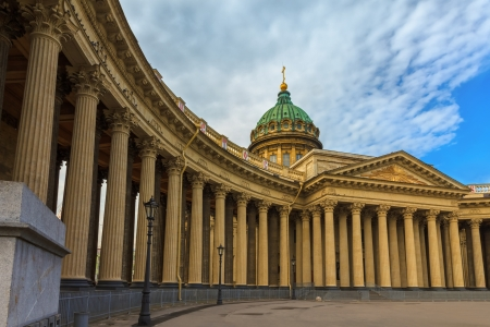 st petersburg: Kazan Cathedral or Kazanskiy Kafedralniy Sobor on the Nevsky Prospekt in Saint-Petersburg, Russia   It is dedicated to Our Lady of Kazan, probably the most venerated icon in Russia