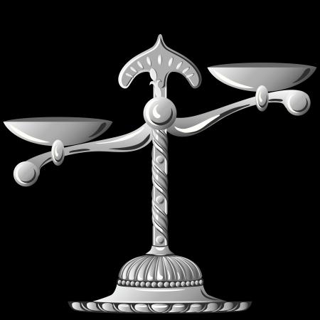unbalanced: silver scale unbalanced isolated on black background