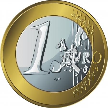 euro coin: vector gold and silver money gold coin euro