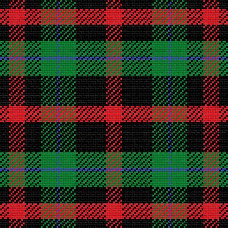 vecteur, seamless tartan écossais 5, noir, rouge, bleu, vert