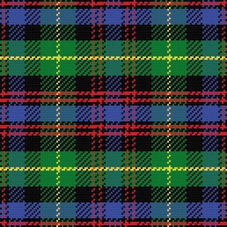 벡터 원활한 패턴 스코틀랜드의 타탄 블랙 시계, 검정, 빨강, 녹색, 노랑, 파랑