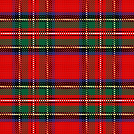 vector seamless pattern Scottish tartan Royal Stewart Vector