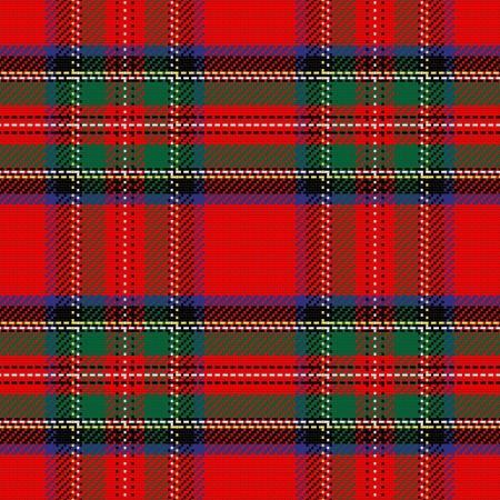 vector seamless pattern Tartan scozzese Royal Stewart