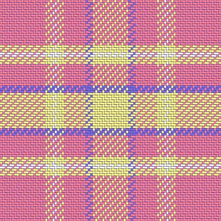 yelllow: vector seamless pattern Scottish tartan, pink, blue, yelllow Illustration