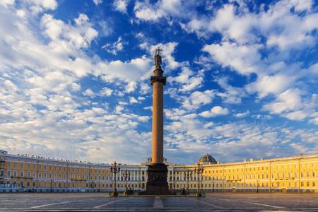 Ochtend bij Palace Square, Sint-Petersburg, Rusland