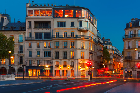 d argent: PARIS, FRANCE - MAY 3, 2014  Evening in Paris  Oldest and most famous Parisian restaurant, Silver Tower  La Tour d