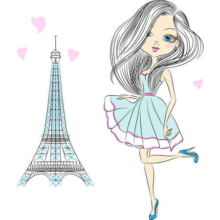 Mooie mode meisje in een elegante korte jurk