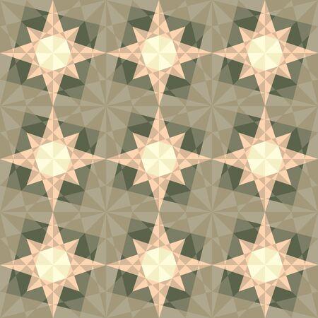 harmonious: vector seamless set geometric pattern with stars