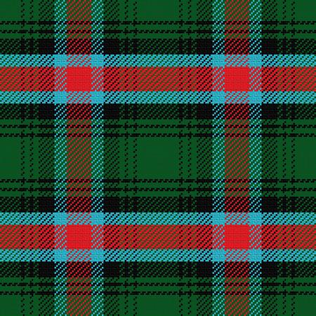 plaid: vector seamless pattern Scottish tartan Georgia, black, white, green, red; blue Illustration