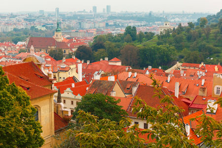 Aerial view over Old Town in Prague, Czech Republic photo