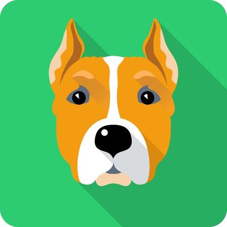 amstaff: dog Amstaff icon flat design Illustration
