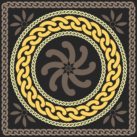 vector gold pattern of chains Illustration