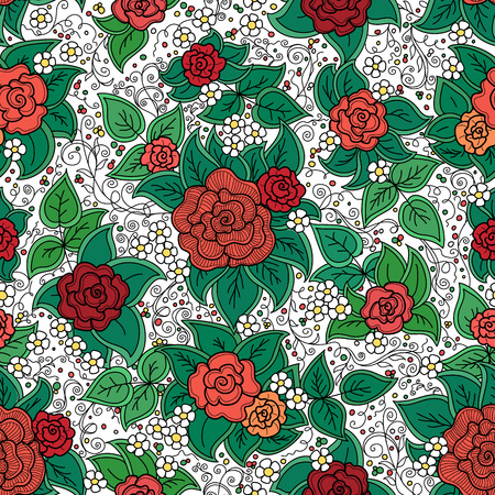 varicolored: vector seamless varicolored floral pattern