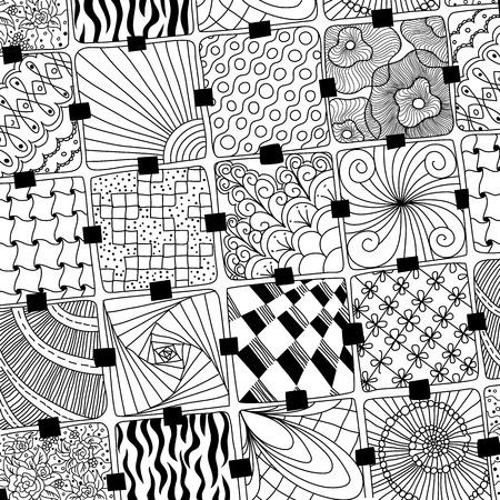 zentangle: vector doodles pattern zentangle