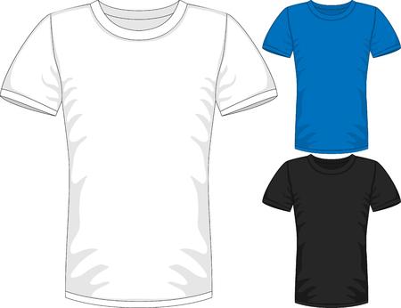 short: Vector Mens short sleeve t-shirt design templates