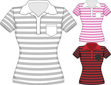 short sleeve: Vector womens short sleeve t-shirt design templates
