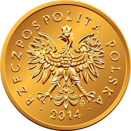obverse: obverse Polish Money two groszy copper coin Illustration