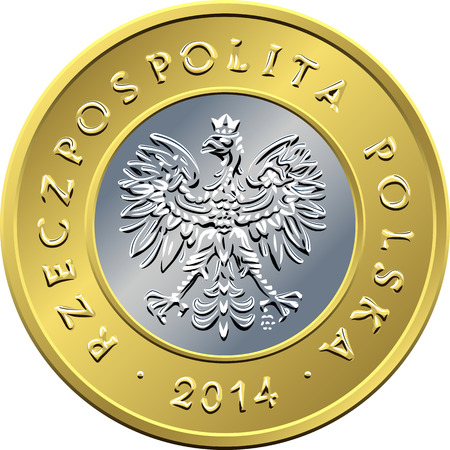 an obverse: obverse Polish Money two zloty coin