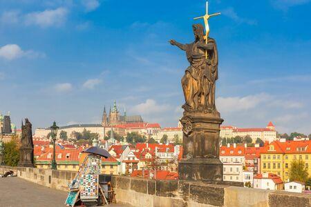 st charles: Charles Bridge in Prague, Czech Republic.