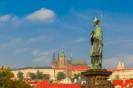 st charles: Statue of St. John Nepomuk, Prague, Czech Republic