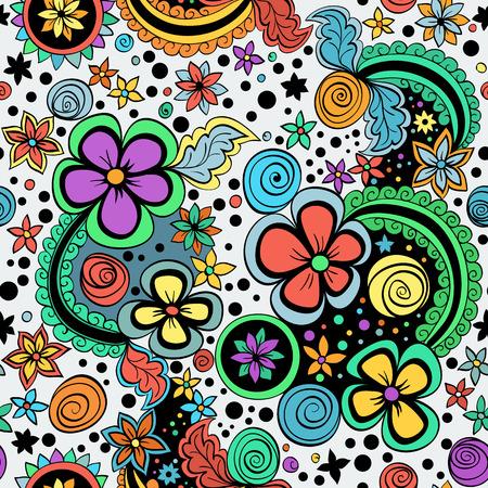 espiral: vector de color patrón floral Vectores