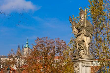 st charles: Statue of St. Augustine, Prague, Czech Republic