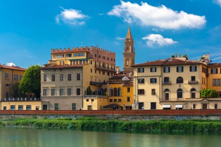 quay: Quay of the river Arno in Florence Italy