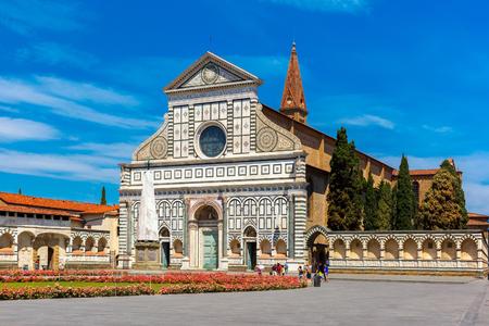 church architecture: Santa Maria Novella in Florence Italy