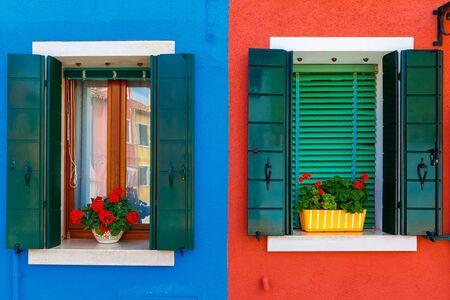 case colorate: Case colorate sul Burano Venezia Italia