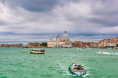 italia: View from the sea to Venice lagoon, Italia Stock Photo
