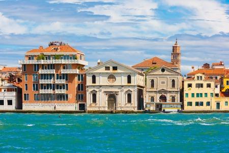 italia: View from the sea to church Spirito Santo in Venice, Italia Stock Photo