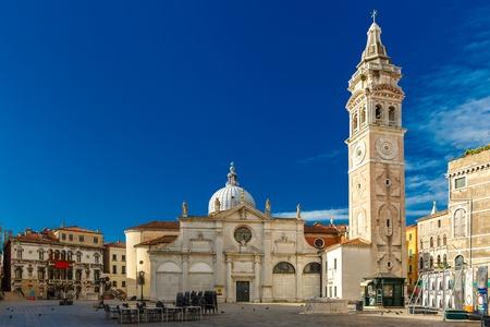 maria: North facade of Church Santa Maria Formosa in the Castello, Venice at morning, Italia Stock Photo