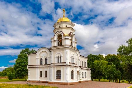'saint nicholas': Bell tower of Saint Nicholas Garrison church in Brest , Belarus