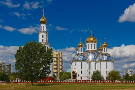 brest: Holy Resurrection Cathedral in Brest at summer day, Belarus