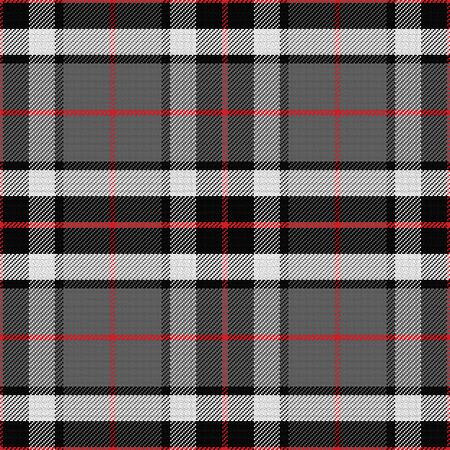 Vektor nahtlose Muster schottischen Tartan Tompson, schwarz, grau und weiß