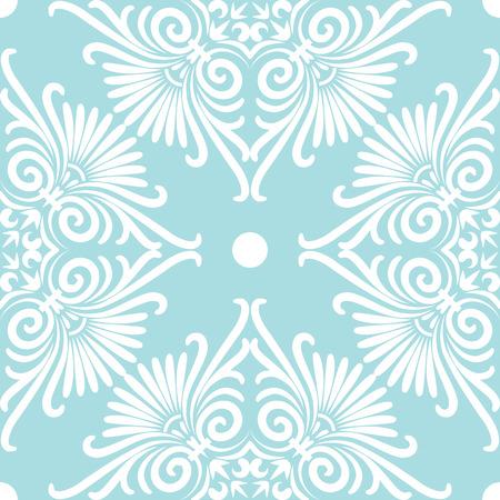 ferraille: Réglez rose mignon transparente et bleu motif floral grecque, la texture sans fin pour le papier peint ou de la ferraille réservation