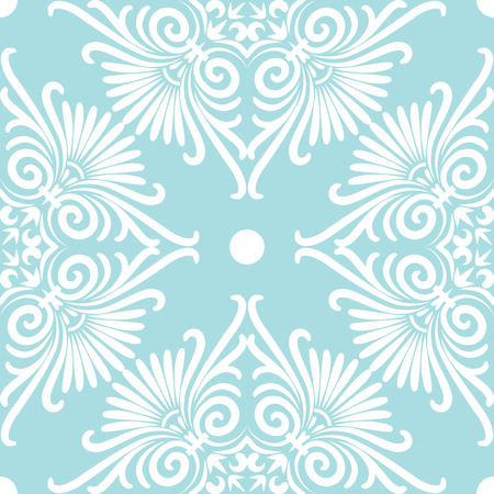scrap: Set seamless cute pink and blue Greek floral pattern, endless texture for wallpaper or scrap booking Illustration