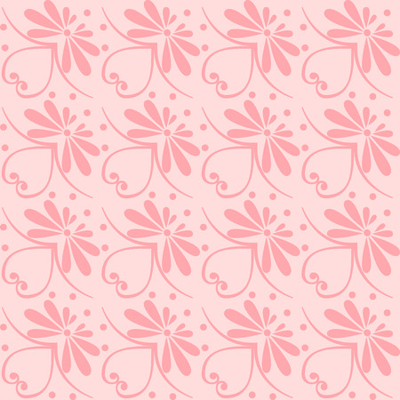pink wallpaper: Set seamless cute pink and blue Greek floral pattern, endless texture for wallpaper or scrap booking Illustration