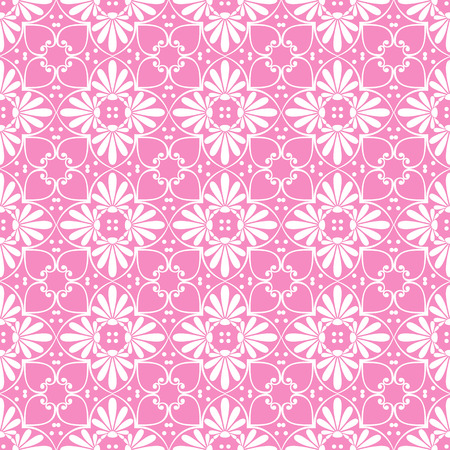 cute wallpaper: Seamless cute pink Greek floral pattern, endless texture for wallpaper or scrap booking