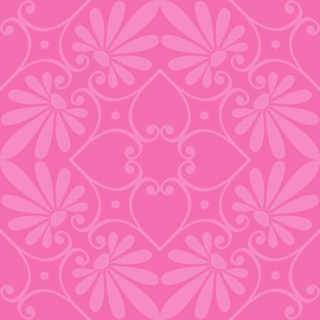 scrap: Seamless cute pink Greek floral pattern, endless texture for wallpaper or scrap booking