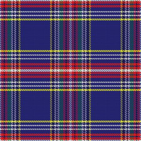 vector naadloze patroon Schotse tartan, blauw en groen, geel en rood