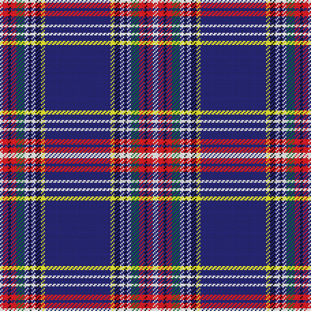 vector seamless pattern Scottish tartan, blue and green,  yellow and red