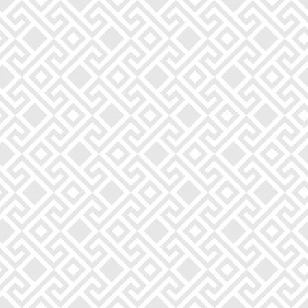 meander: Traditional  seamless vintage gray square Greek ornament, Meander